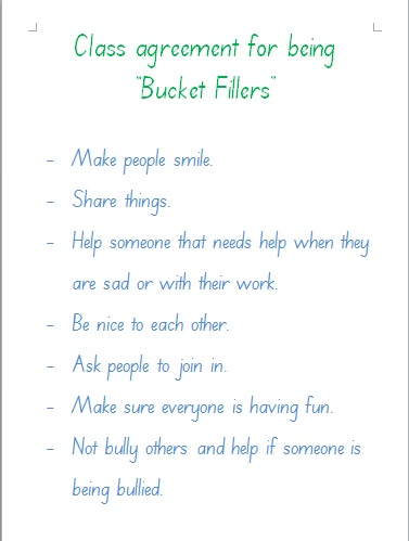 Have You Filled A Bucket Today Mrs Fishers Class
